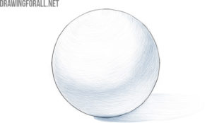 how to draw a 3d ball