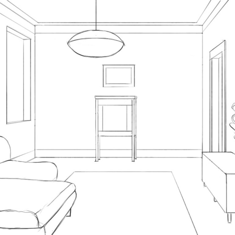 How to Draw an Interior