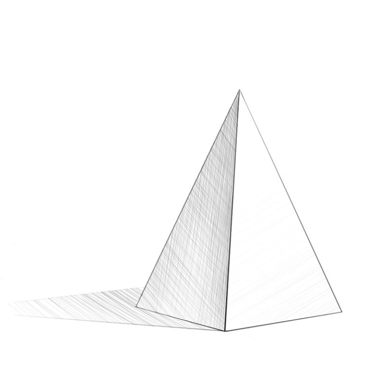 How to Draw a Realistic Pyramid