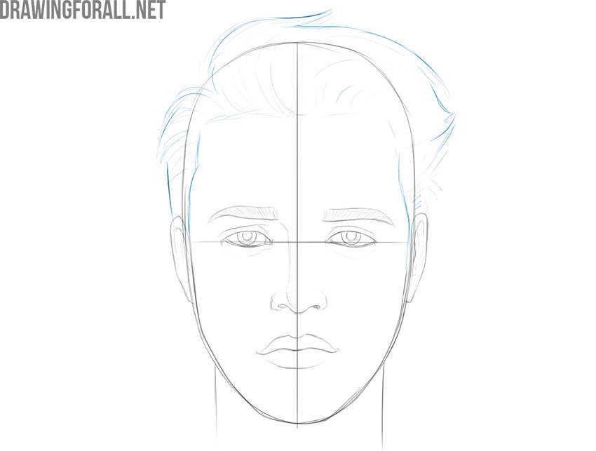 how to draw a boy face step by step easy