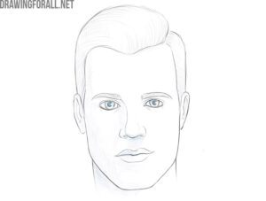 how to draw a male face step by step for beginners