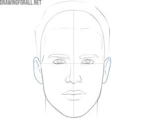 How to draw a man face