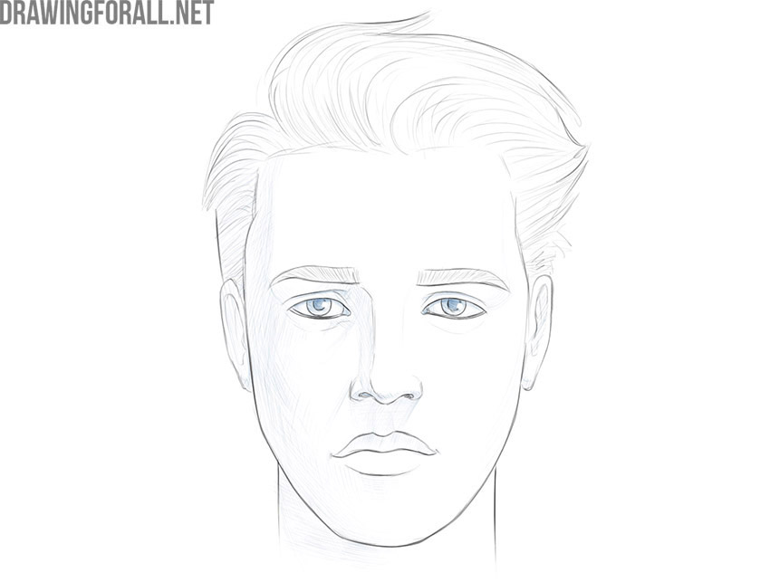 how to draw a boy face easy