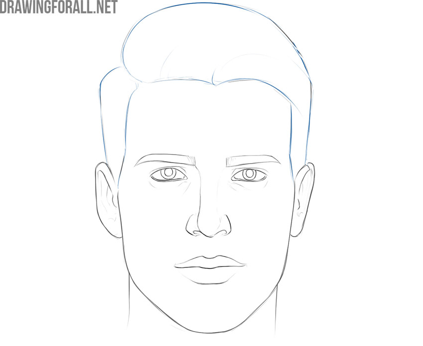 how to draw a face and head