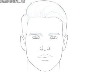 how to draw a face and hair