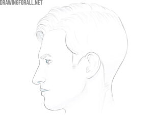 how to draw a face from the side easy