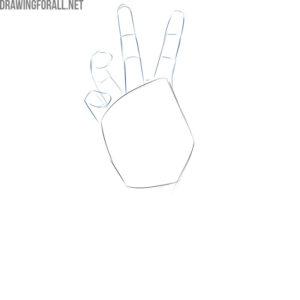 how do you draw a zombie hand