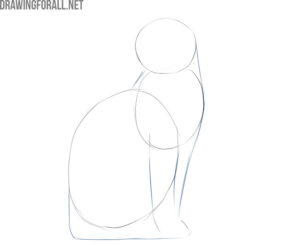 how to draw a simple cat sitting
