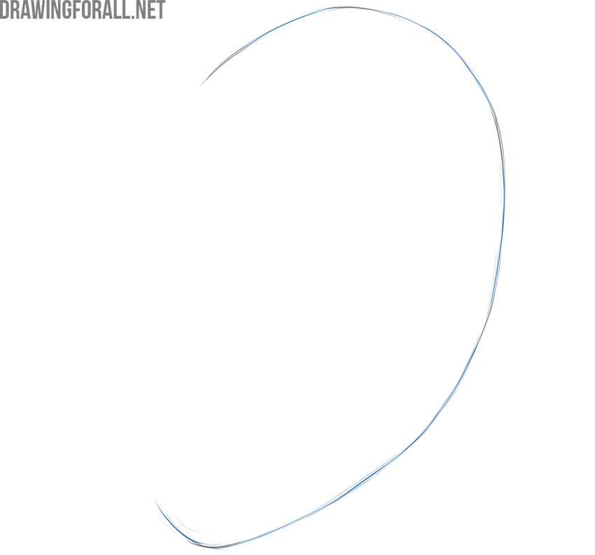 how to draw an ear easy step by step