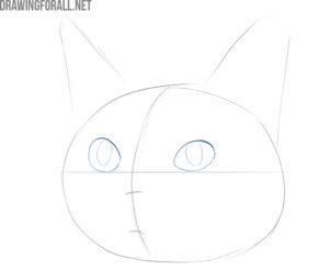 how to draw a cute cat realistic
