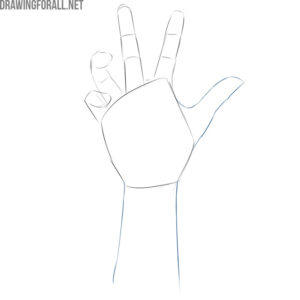 how to draw a zombie hand step by step