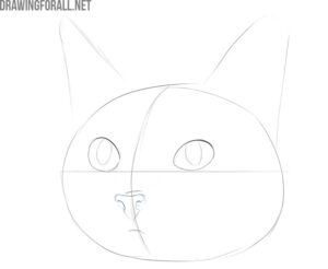 how to draw a cat cute and easy