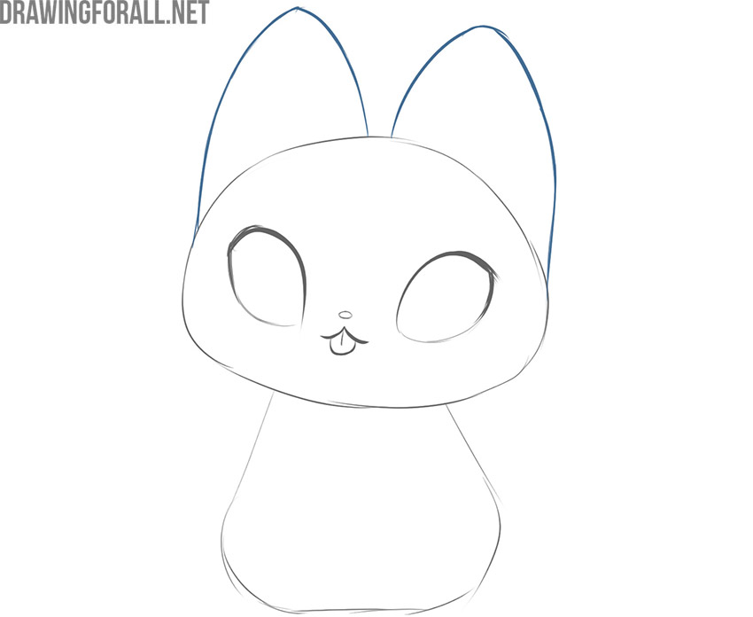 how to draw a kawaii cat easy step by step