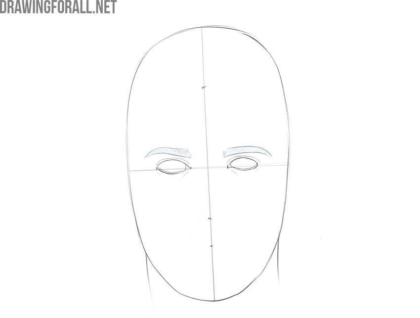 how to draw a male face step by step easy