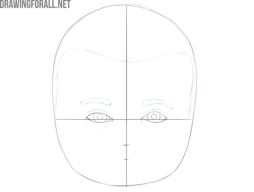 how to draw a baby boy face