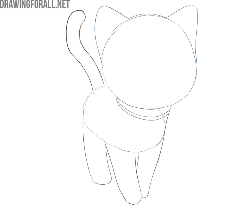 how to draw a cute cartoon cat