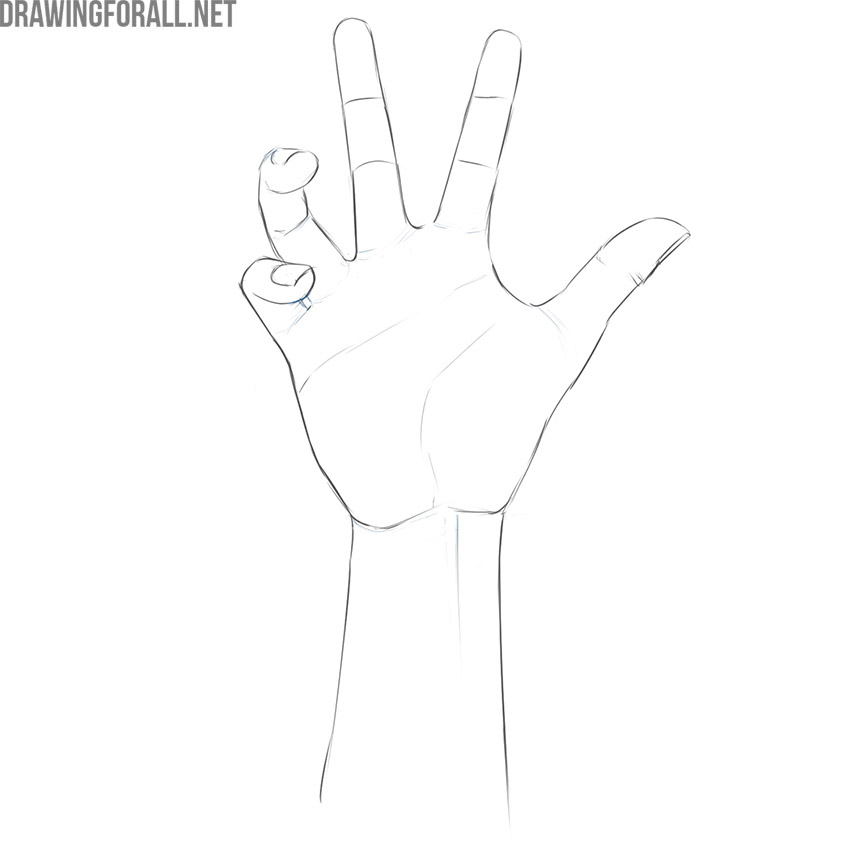 how to draw a realistic zombie hand