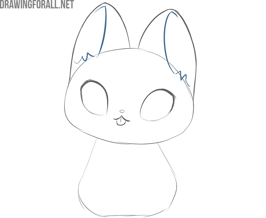 how to draw a simple kawaii cat