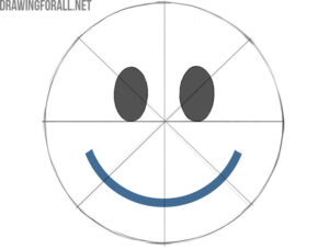 how to draw a smiley face emoji