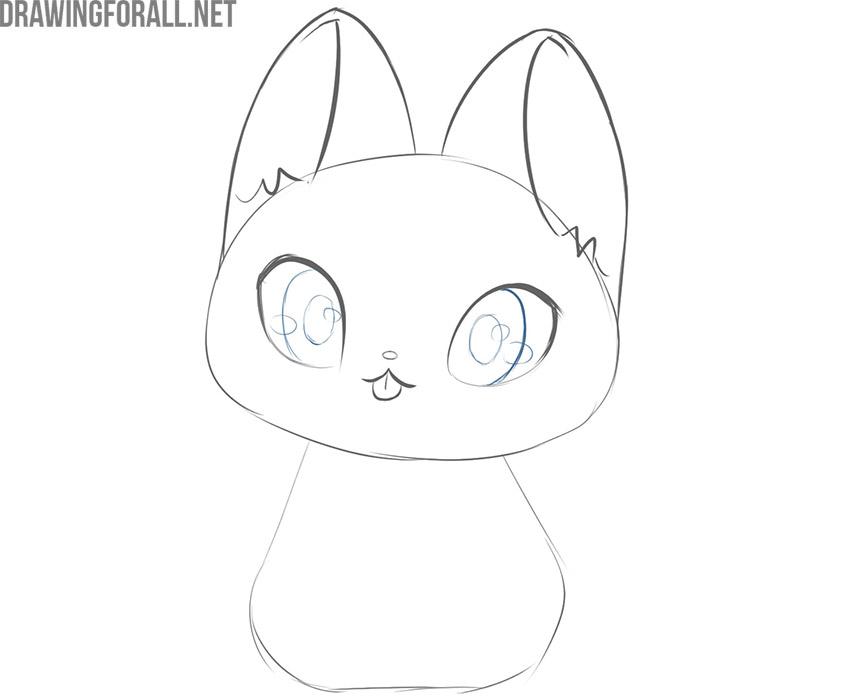 how to draw a kawaii nyan cat