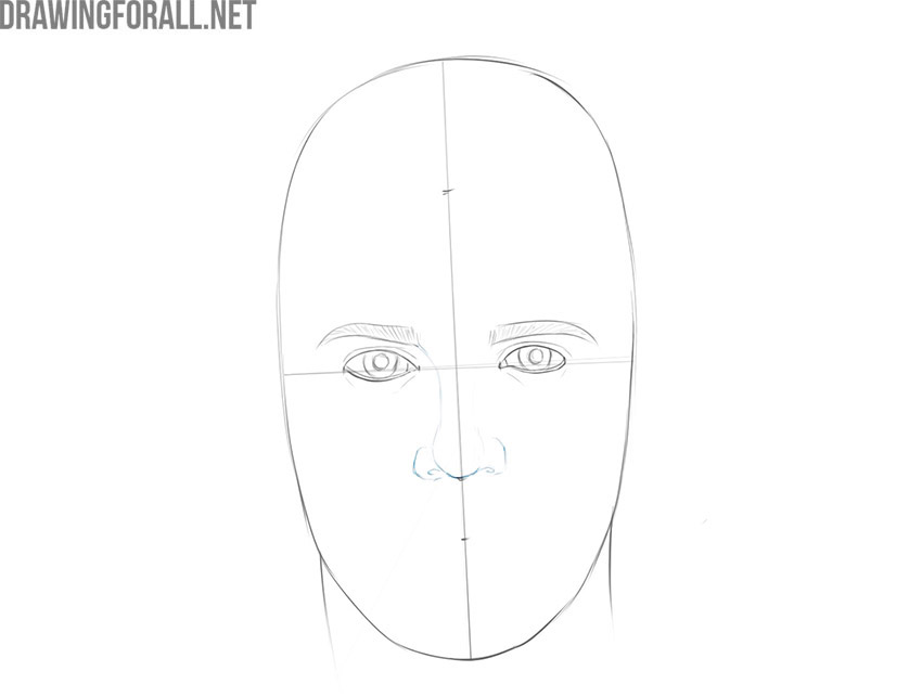 how to draw a male