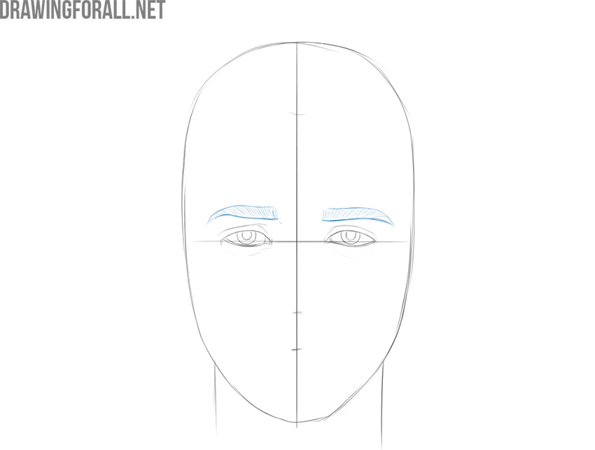 how to draw an easy boy face