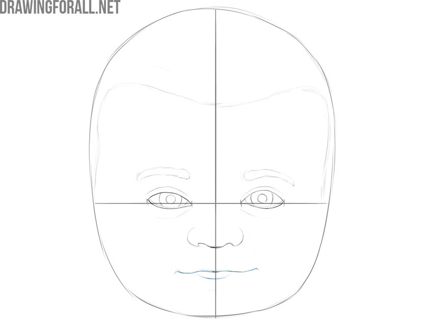 how to draw a baby face step by step for beginners