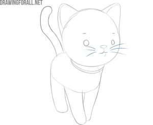 how to draw a cartoon cat step by step