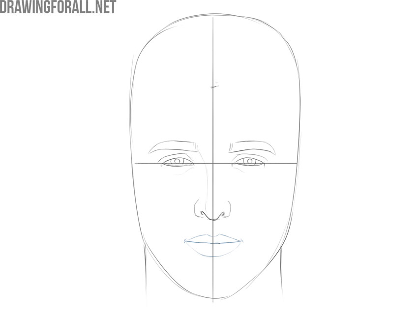 how to draw a face for beginners step by step easy