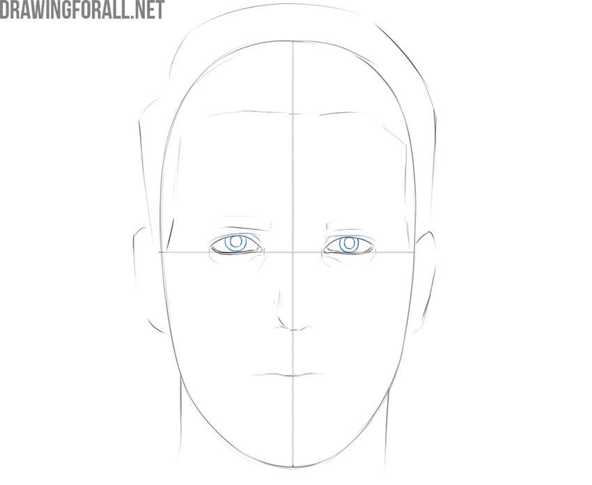 how to draw a persons face
