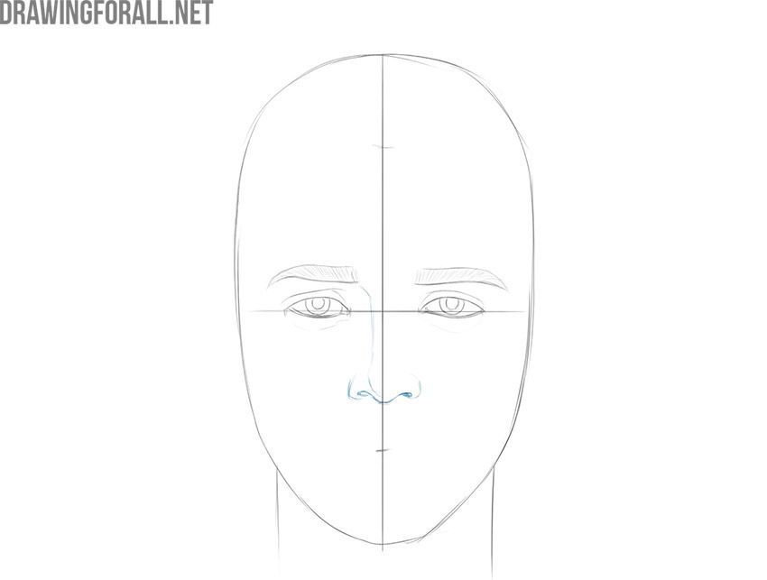 how to draw anime boy face step by step for beginners