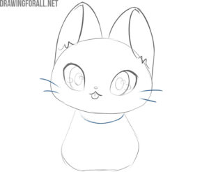 how to draw kawaii cats