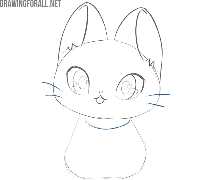 how to draw kawaii cats