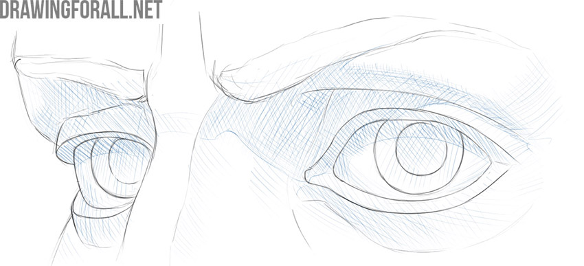 How to draw eyes detailed
