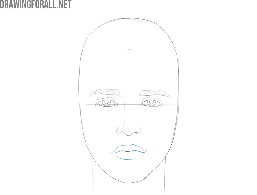 how to draw a boy face for beginners