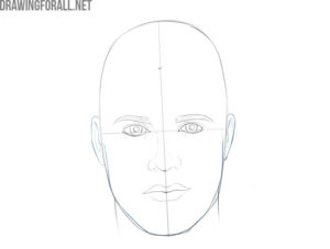 how to draw a male face easy