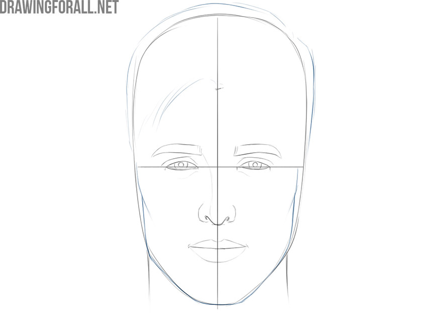 how to draw an easy face for beginners
