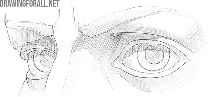 How to draw Eyes from 3 4
