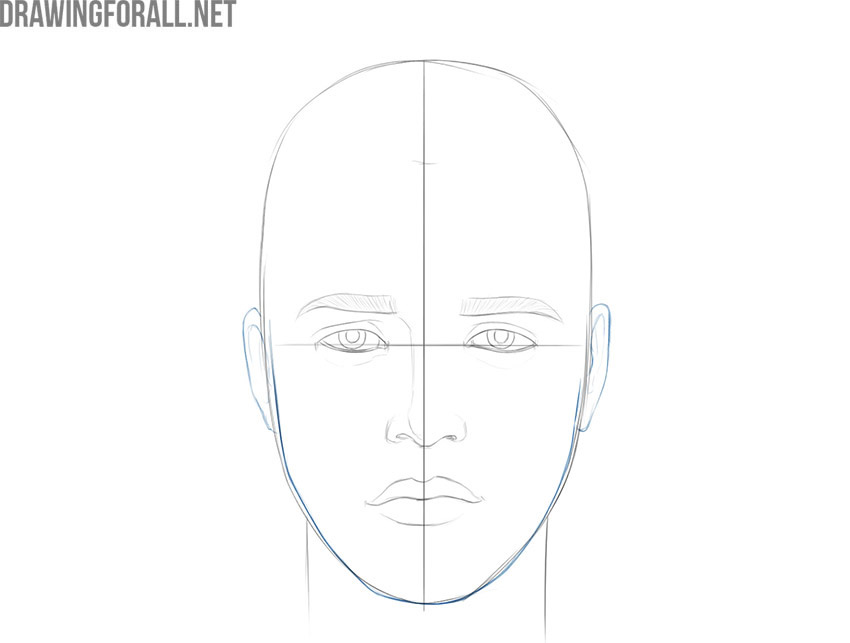 how to draw a boy face realistic
