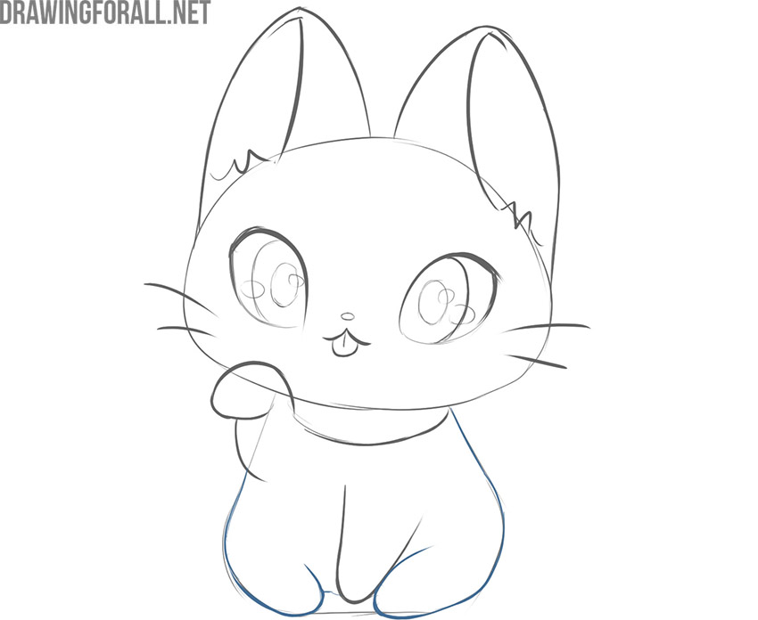 how to draw a cute kawaii cat