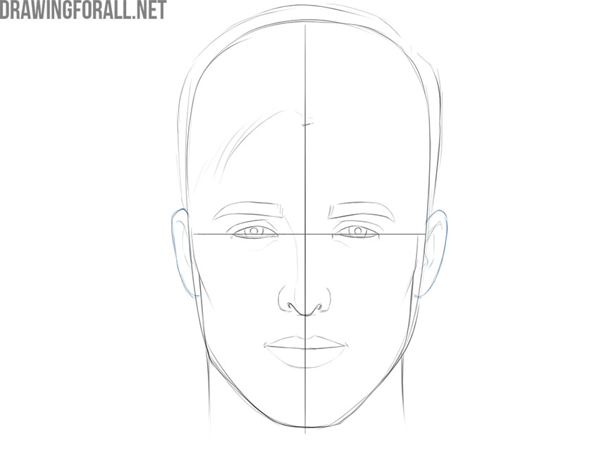 how to draw a face for beginners easy