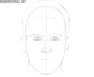 how to draw a face with pencil