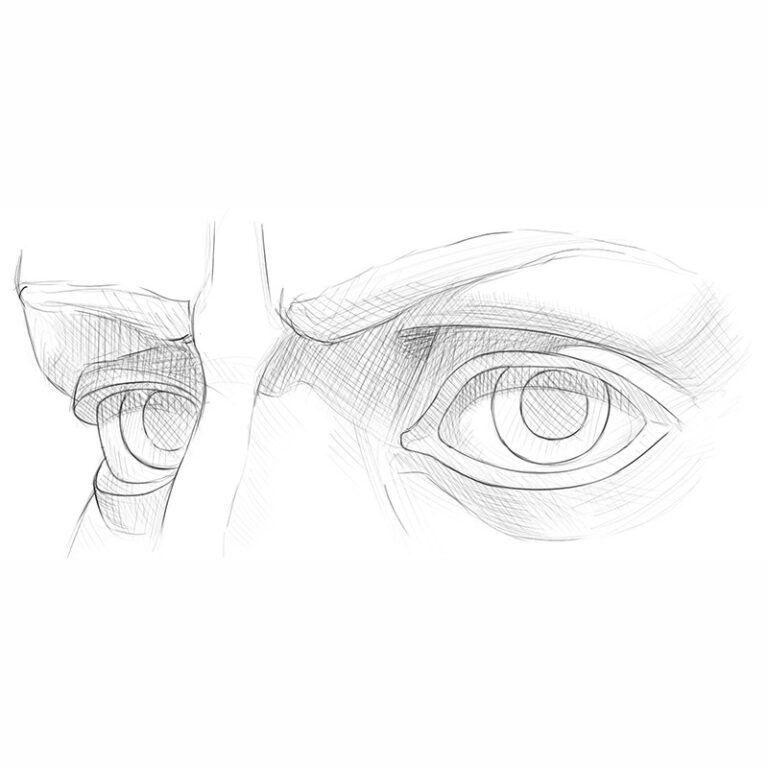 How to Draw Eyes From the 3/4 View