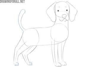 cartoon dog drawing