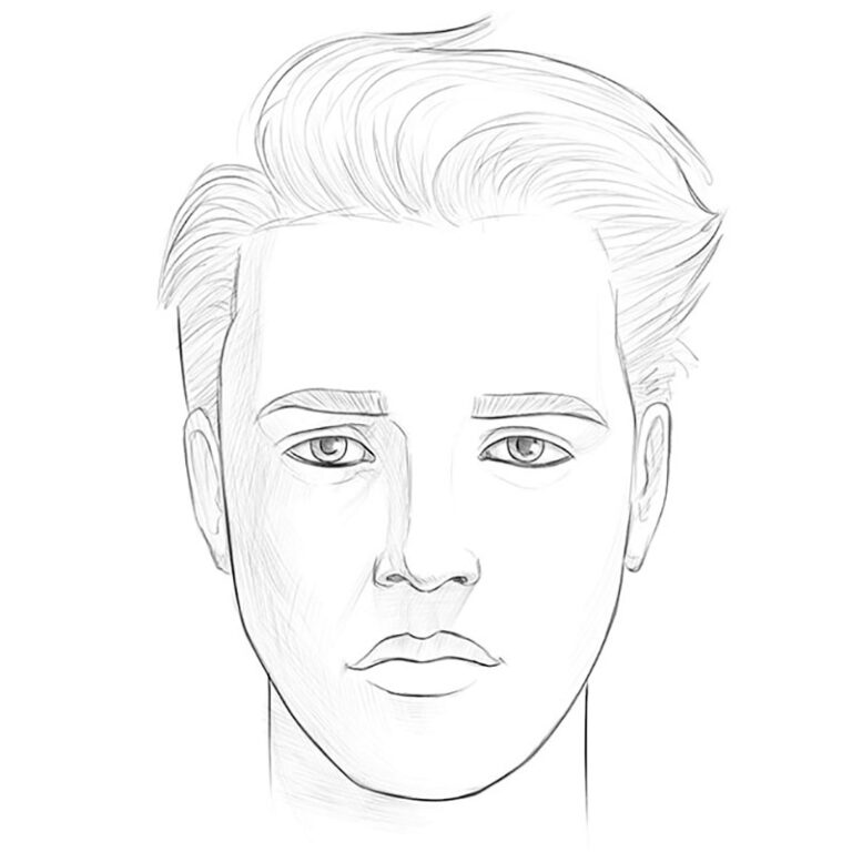 How to Draw a Boy Face