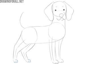 how to draw a cartoon dog easy