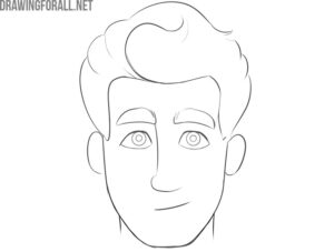 how to draw a cartoon face