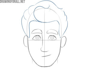 how to draw a cartoon face easy