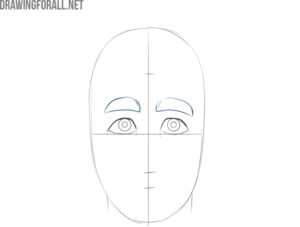 how to draw a cartoon face easy step by step