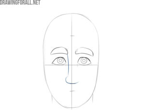 how to draw a cartoon face step by step